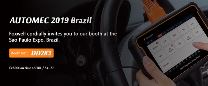 Welcome to Join Foxwell at AUTOMEC Brazil, 27th - 23th. April, 2019