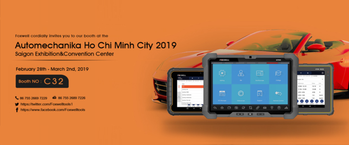 Welcome to Join Foxwell at Automechanika Ho Chi Minh City, 27th - 23th. April, 2019