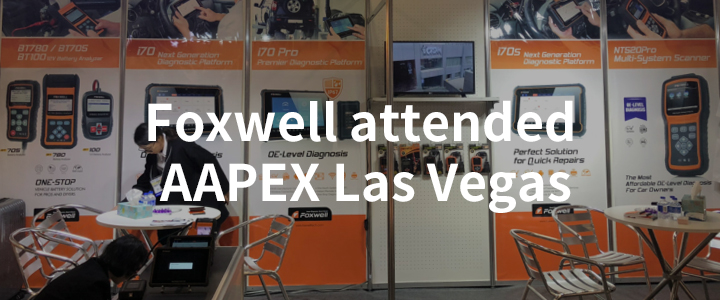 Foxwell attended AAPEX Las Vegas